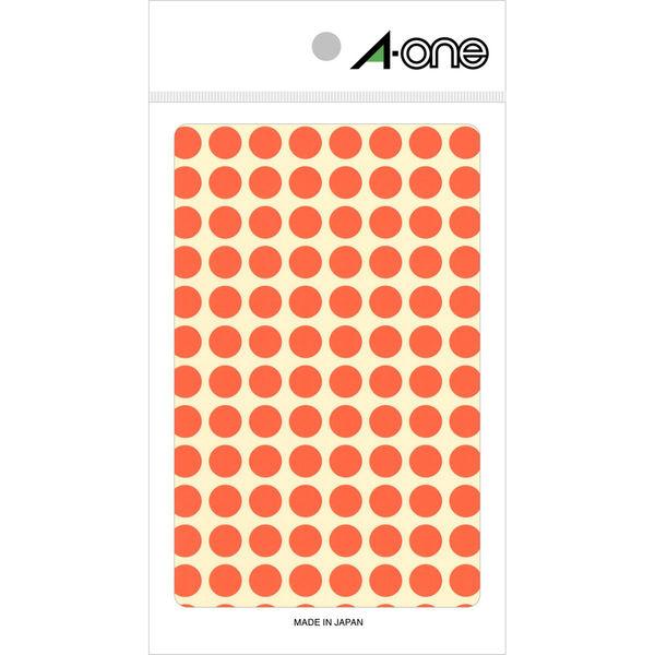 エーワン カラーラベル 丸シール 整理・表示用 上質紙 蛍光赤色 1片(9mmφ 丸型) 1袋(4シート 416片入) 08171(取寄品)