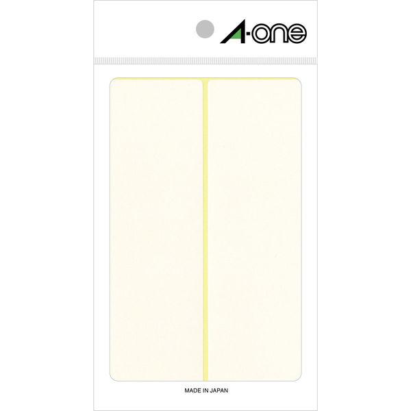 エーワン フリーラベル 整理・表示用 手書き用 上質紙 白 1片(43×140mm) 1袋(15シート 30片入) 06020(取寄品)