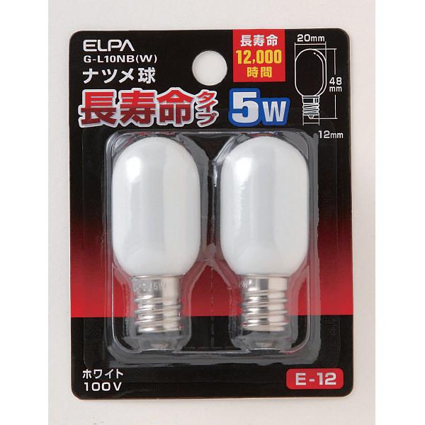 朝日電器 ナツメ球 長寿命タイプ G-L10NB(W) 1パック(2個入)
