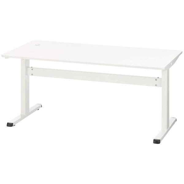 林製作所 上下昇降式テーブル ホワイト 幅1600×奥行800×高さ700~1100mm 1台(2梱包)