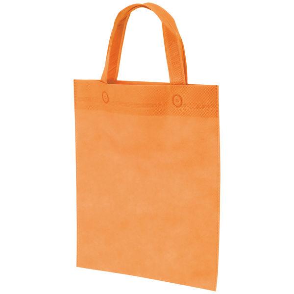 不織布手提げ袋 オレンジ A4 10枚