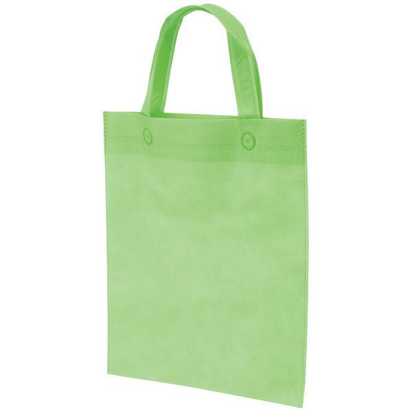 不織布手提げ袋 グリーン A4 10枚