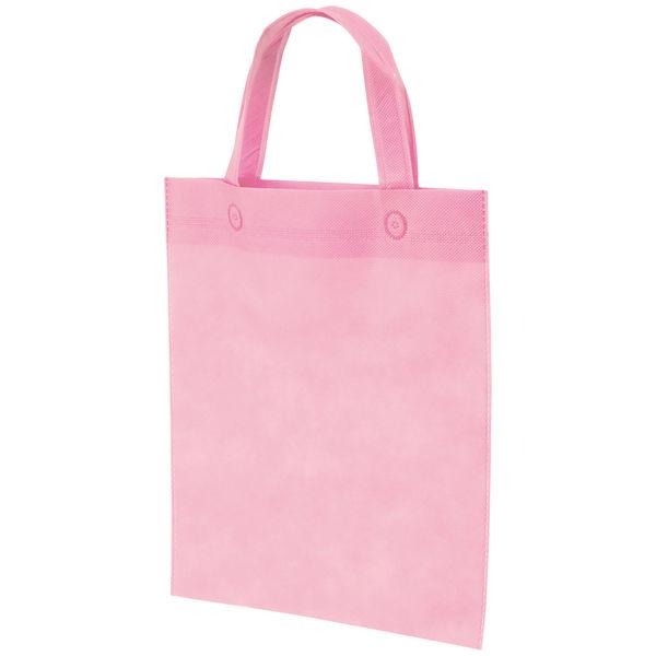 不織布手提げ袋 ピンク A4 10枚