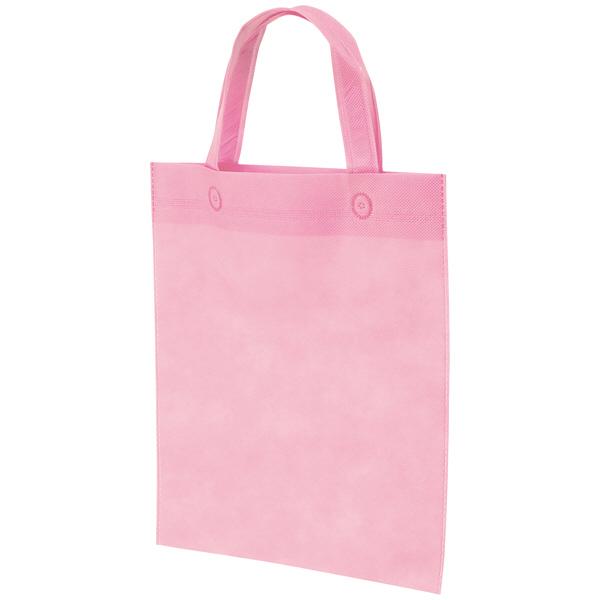 不織布手提げ袋 ピンク B4 10枚