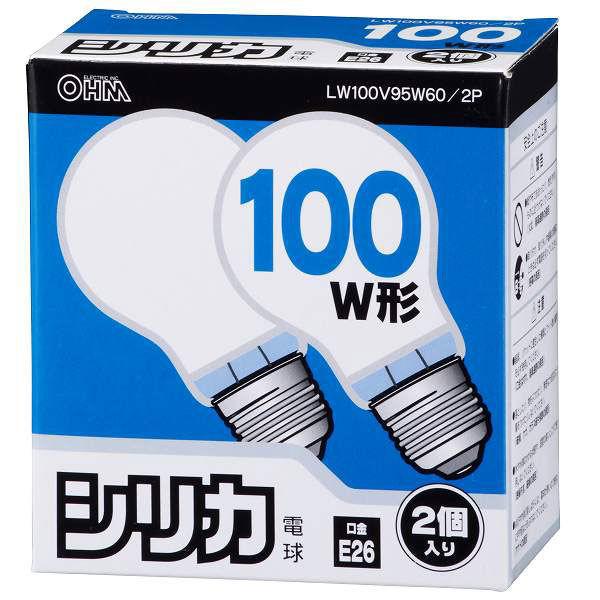 オーム電機 白熱電球100W LW100V95W60/2P 1箱(2個入)