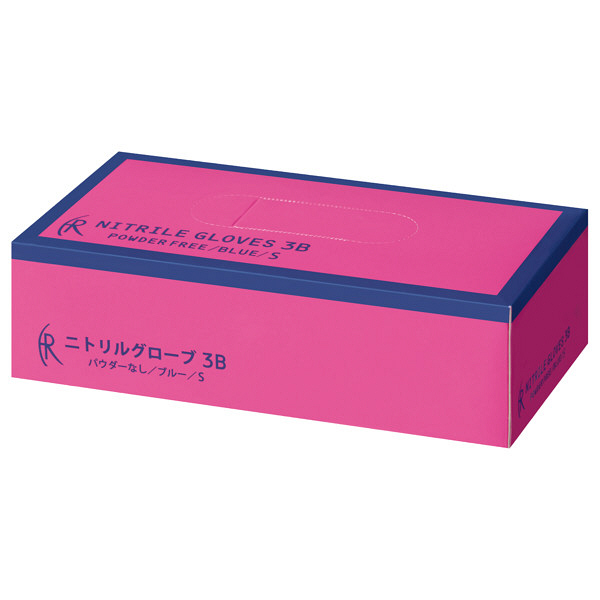 ファーストレイト ニトリルゴム手袋3B ブルー Sサイズ FR-5661 1箱(200枚入) (使い捨て手袋)