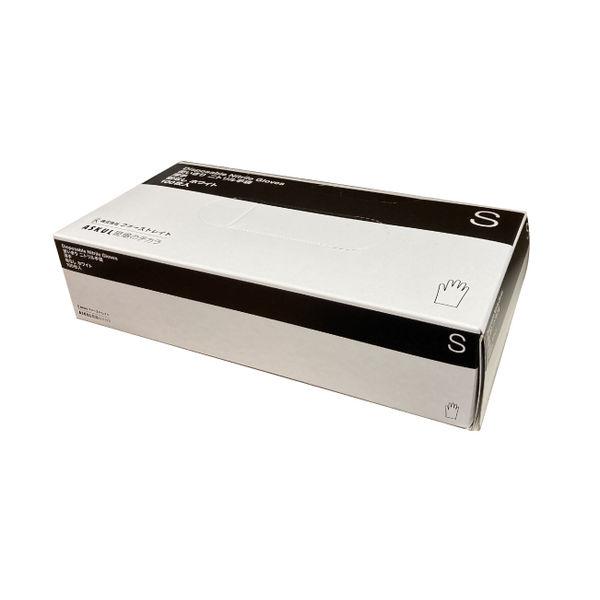 白ニトリル手袋 薄手 粉無 S 100枚