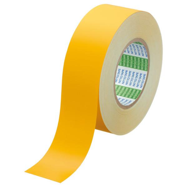 日東電工 幅50mmx長さ50m セパレート付 ラインテープE-A黄 50x50m 1箱(2巻入)