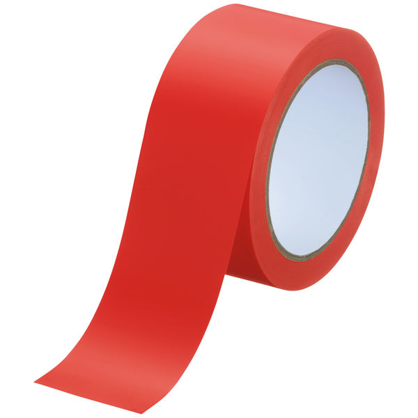 アスクル ラインテープ 幅50mm×長さ20m 赤 1セット(5巻)