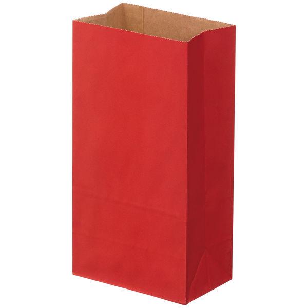 角底紙袋 赤 4号 100枚