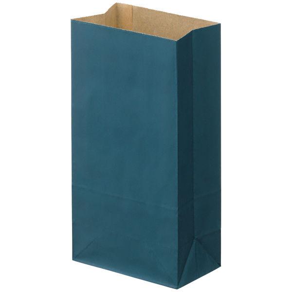 角底紙袋 紺 4号 100枚