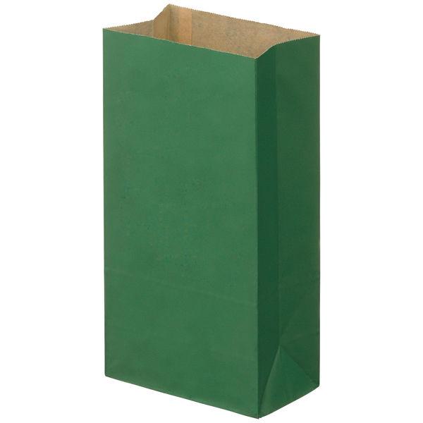 角底紙袋 緑 4号 100枚