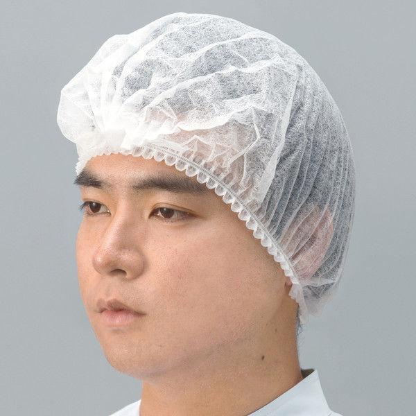川西工業 不織布 使いきりヘアキャップ ホワイト 1袋(500枚入)