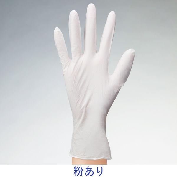 ファーストレート 使いきりニトリル手袋 ホワイト 粉あり Mサイズ 1箱(100枚入)