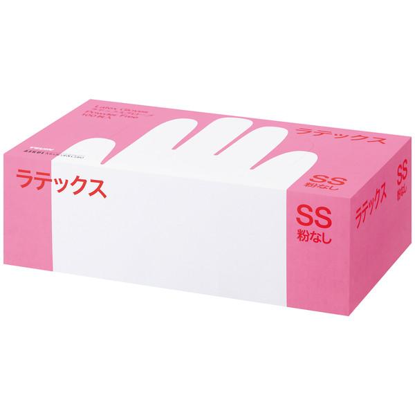 帝人フロンティア ラテックスゴム手袋パウダーフリー SSサイズ SS LTX-PF509SS 1箱(100枚入) (使い捨て手袋)