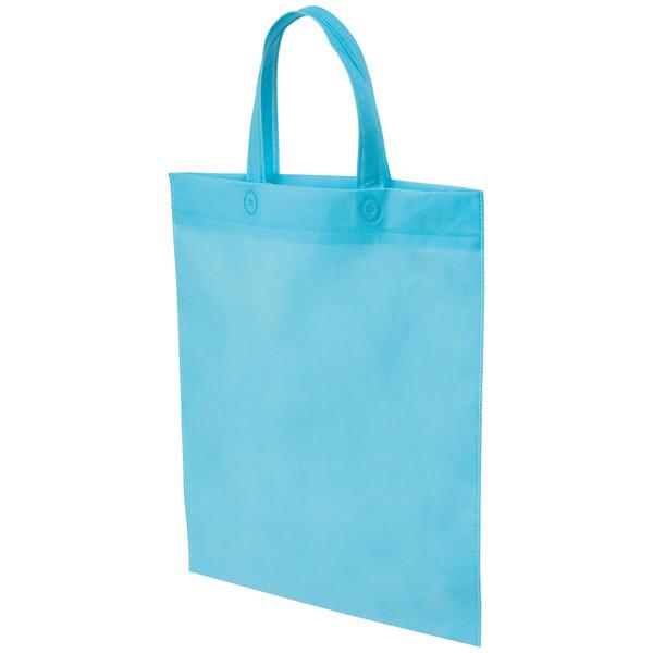 不織布手提げ袋 ブルー B4 50枚
