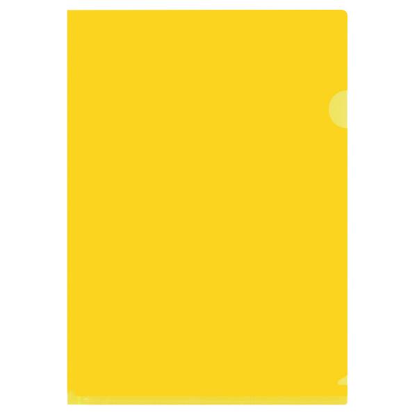 プラス カラークリアホルダー A4 1箱(600枚) 濃色イエロー