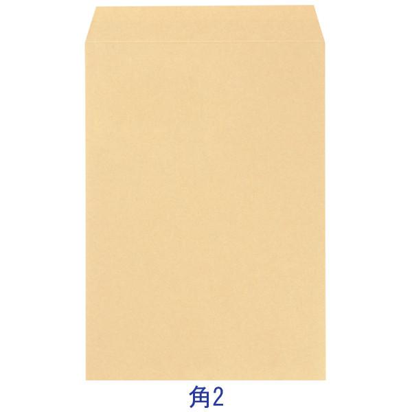今村紙工 透けないクラフト封筒(地紋入り) 角2 テープなし KFK2-100 1袋(100枚入)×5袋