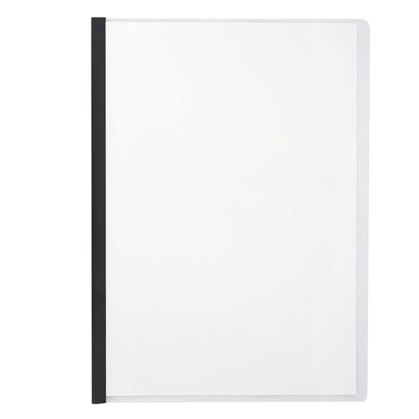 アスクル レール式クリアーホルダーA4タテ20枚とじブラック 93218 1セット(120冊)