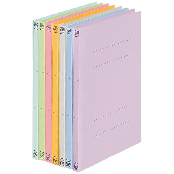 プラス フラットファイルA4タテ 7色ミックス 78380 1セット(60冊)