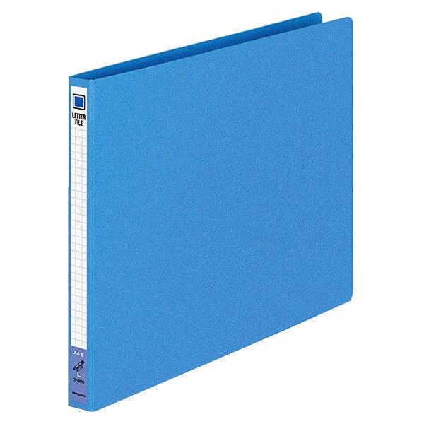 コクヨ レターファイル(色厚板紙) A4ヨコ ブルー フ-555B 1袋(10冊入)