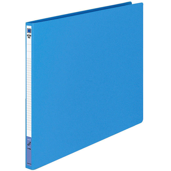 コクヨ レターファイル(色厚板紙) A3ヨコ ブルー フ-558B 1袋(10冊入)