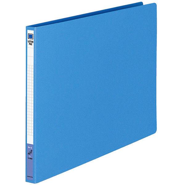 コクヨ レターファイル(色厚板紙) B4ヨコ ブルー フ-559B 1袋(10冊入)