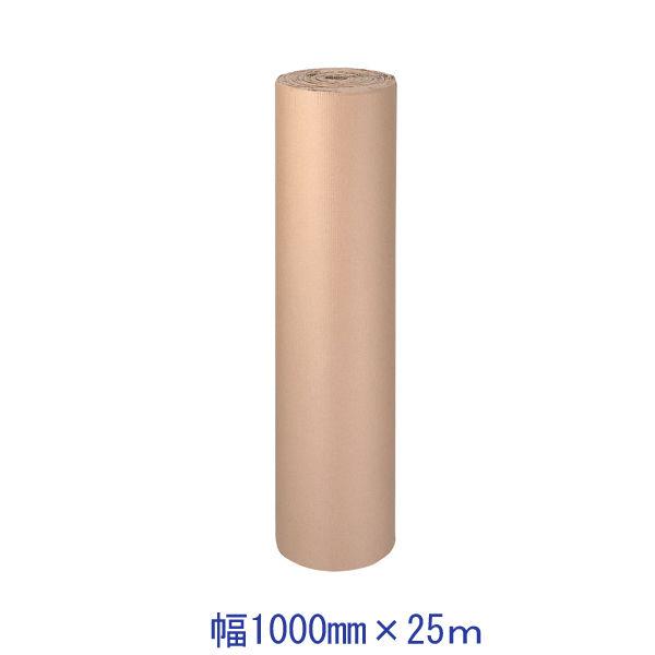 タナックス 「現場のチカラ」巻き段ボール 幅1000mm×25m T2 1×25 1セット(9巻)