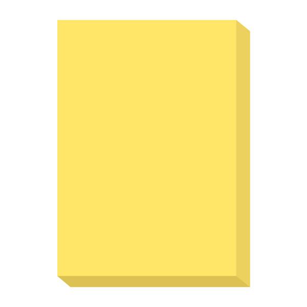 オフィス用紙カラーR100 イエロー A4サイズ OFR100Y-A4 1箱(500枚入×5冊) 北越紀州製紙