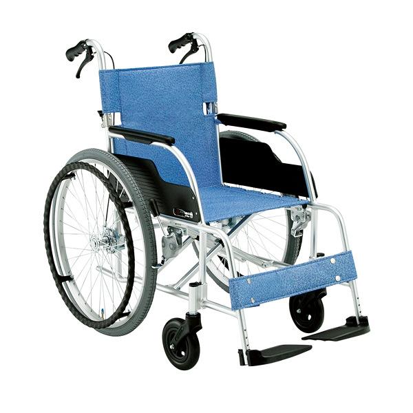 松永製作所 スタンダード車いす ECO-201B 自走用 背折れ式 アルミ製 介助ブレーキ付き