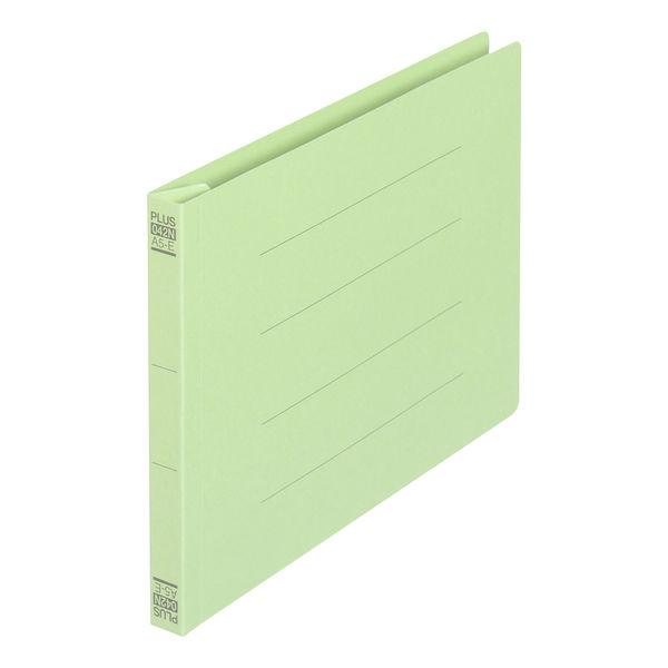 プラス フラットファイル樹脂製とじ具 A5ヨコ グリーン No.042N 1セット(30冊)