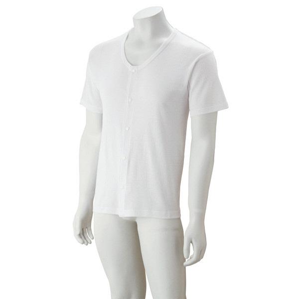 紳士半袖大寸ホックシャツ ホワイト 4L 38125-08 (取寄品)