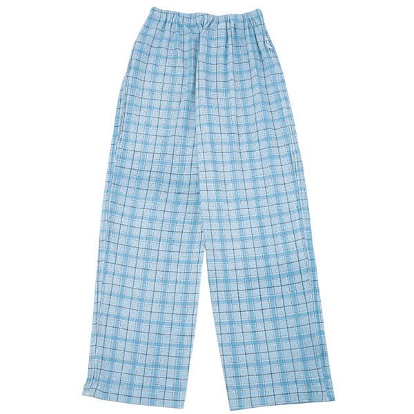 紳士フルオープン洗い替えパンツ 格子グレー L 38594-12 (取寄品)