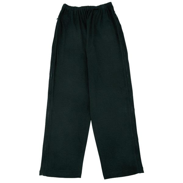 紳士フルオープン洗い替えパンツ ブラック M 38594-21 (取寄品)