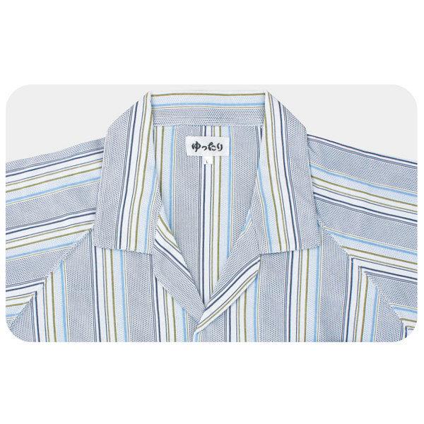 紳士介護フルオープンパジャマ グレー S 38775-14 1セット (取寄品)