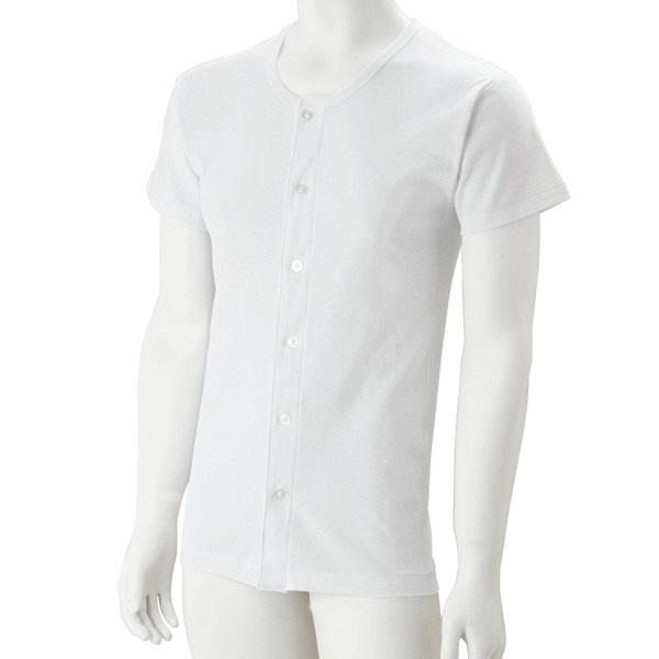 紳士半袖大きめボタンシャツ ホワイト S 39959-04 1セット(2枚組) (取寄品)