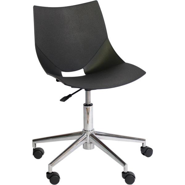 アーメット(Arrmet) オフィスチェア コスカスイーベル(アルミダイキャスト脚) ブラック (取寄品)