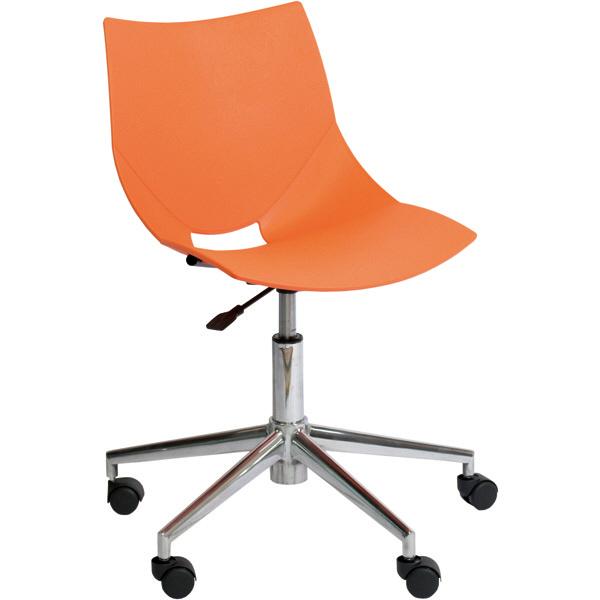 アーメット(Arrmet) オフィスチェア コスカスイーベル(アルミダイキャスト脚) オレンジ (取寄品)