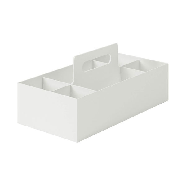 無印良品 ポリプロピレン収納キャリーボックス・ワイド ホワイトグレー 1個