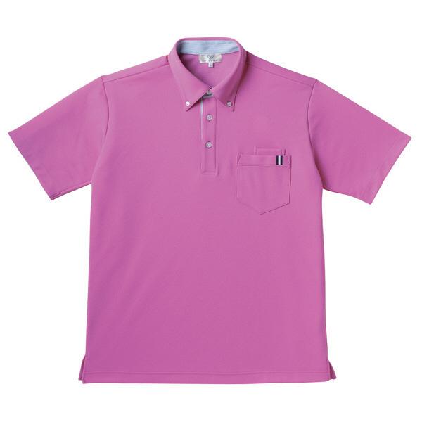 【メーカーカタログ】 トンボ キラク 男女兼用ニットシャツ ピンク SS CR145-16 1枚  (取寄品)