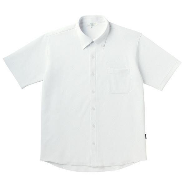 【メーカーカタログ】 トンボ キラク リュクス ニットシャツ 白 SS CR162-01 1枚  (取寄品)