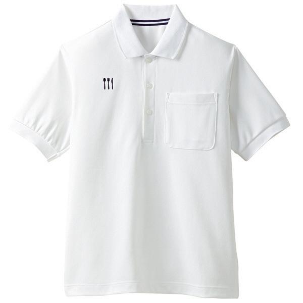 【メーカーカタログ】 トンボ 栗原はるみ×キラク ポロシャツ 白 M 4K21001-01 1枚  (取寄品)