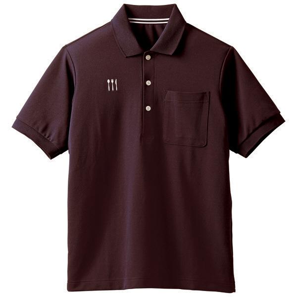 【メーカーカタログ】 トンボ 栗原はるみ×キラク ポロシャツ ブラウン L 4K21001-31 1枚  (取寄品)