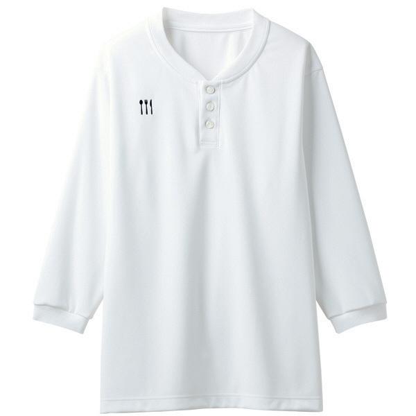 【メーカーカタログ】 トンボ 栗原はるみ×キラク ヘンリーシャツ 白 LL 4K31002-01 1枚  (取寄品)