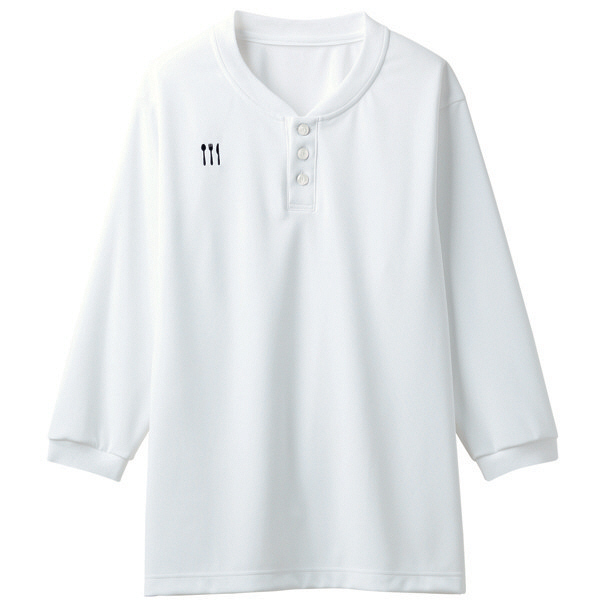 【メーカーカタログ】 トンボ 栗原はるみ×キラク ヘンリーシャツ 白 3L 4K31002-01 1枚  (取寄品)