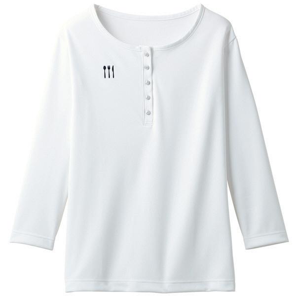 【メーカーカタログ】 トンボ 栗原はるみ×キラク ヘンリーシャツ 白 LL 4K38002-01 1枚  (取寄品)