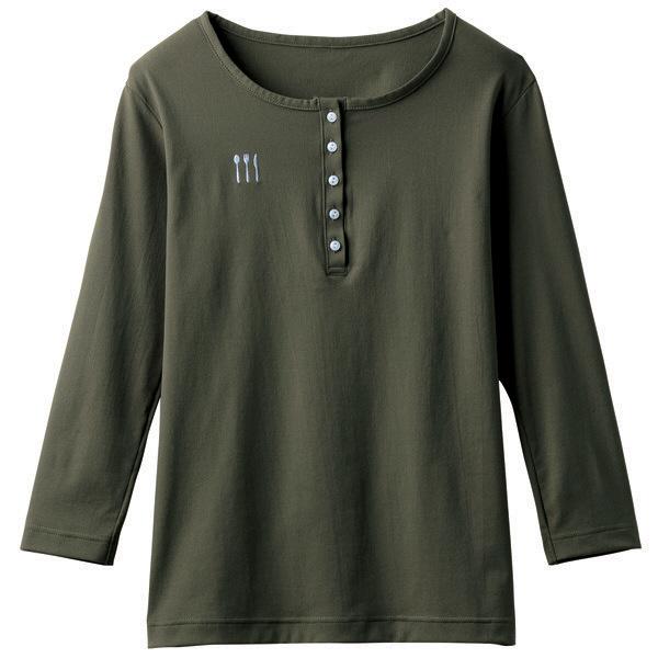 【メーカーカタログ】 トンボ 栗原はるみ×キラク ヘンリーシャツ カーキ L 4K38002-47 1枚  (取寄品)