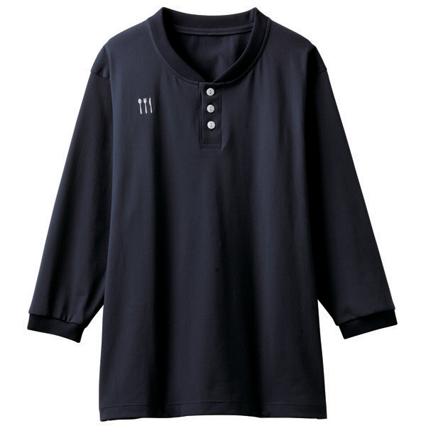 【メーカーカタログ】 トンボ 栗原はるみ×キラク ヘンリーシャツ ネイビー M 4K31002-89 1枚  (取寄品)