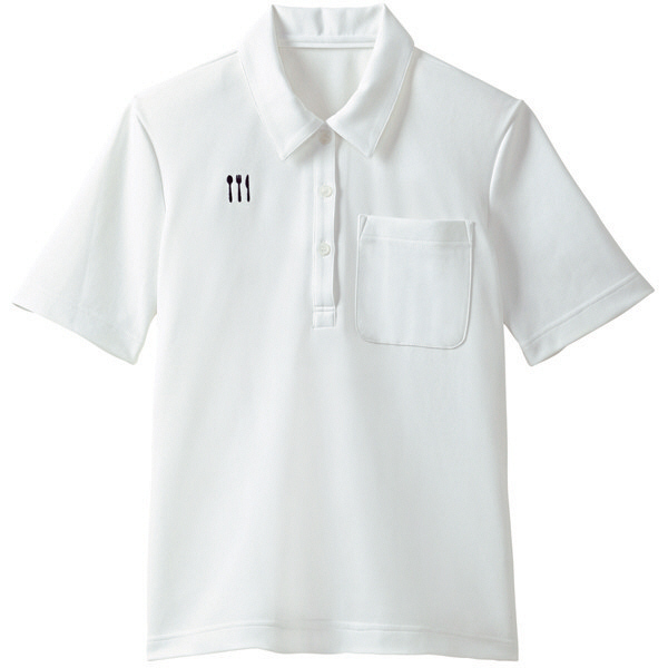 【メーカーカタログ】 トンボ 栗原はるみ×キラク ニットシャツ 白 L 4K28001-01 1枚  (取寄品)
