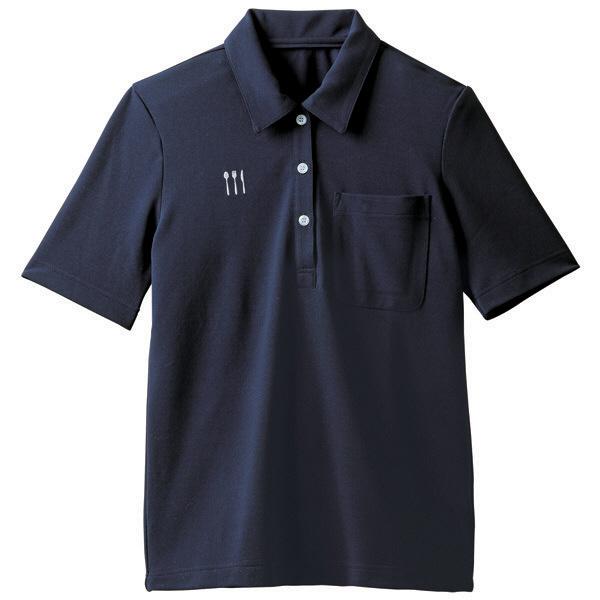 【メーカーカタログ】 トンボ 栗原はるみ×キラク ニットシャツ ネービー L 4K28001-89 1枚  (取寄品)